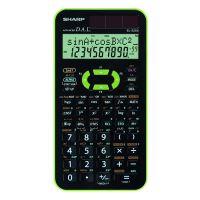 Kalkulačka Sharp EL-520XGR, černo-zelená, vědecká