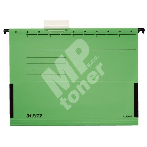 Závěsné desky Leitz ALPHA s bočnicemi, zelené 1