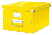 Krabice Click & Store, žlutá, lesklá, A4, LEITZ 7