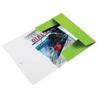 Desky s gumičkou Leitz WOW, A4, PP, zelená 2