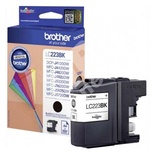 Inkoustová cartridge Brother LC-223BK, MFC-J4420DW, MFC-J4620DW, black, originál