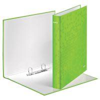 Kroužkový pořadač Wow, zelená, 2 kroužky, 40 mm, A4, karton, LEITZ 2