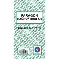Paragon daňový doklad A6 ET010, 50 listů
