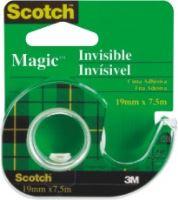 Lepící páska 3M Scotch Magic Invisible 19 mm x 7,5 m, zásobník