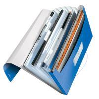 Aktovka s přihrádkami Leitz WOW, PP, modrá 2