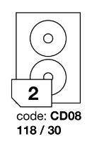 Samolepící etikety Rayfilm Office průměr 118/30 mm 300 archů R0103.CD08D