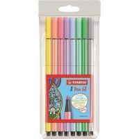 Fixy STABILO Pen 68, 1mm, 8 pastelových barev
