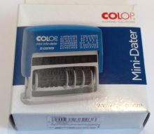Razítko COLOP MiniDater S120/WD  razítko s nastavitelným textem
