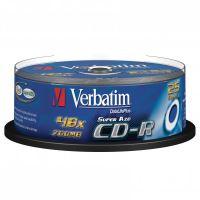 Verbatim CD-R, DataLife PLUS, 700 MB, Crystal, cake box, 43352, 52x, 25-pack