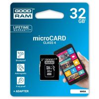 32GB Goodram Micro Secure Digital Card, micro SDHC, Class 4, s adaptérem