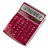Kalkulačka Citizen CCC-112RD, červená, stolní, dvanáctimístná
