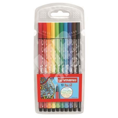 Fixy Pen 68, 10 barev, 1mm, STABILO 1