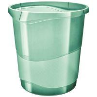 Odpadkový koš Esselte Colour'Ice, průhledná zelená, 14 l