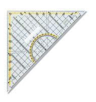 Trojúhelník 45/177 s držákem 703044, transparentní