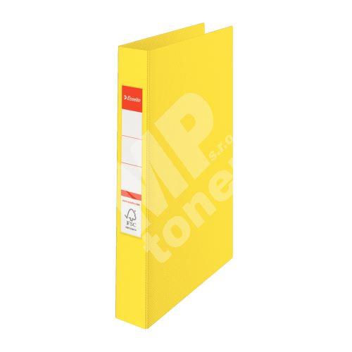 Dvoukroužkový pořadač Esselte, 35 mm, žlutý 2
