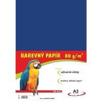 Barevný papír A3, 80g, tmavě modrý, 100 listů
