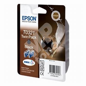 Inkoustová cartridge Epson C13T032142 černá, 2 ks originál