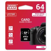 64GB Goodram Secure Digital Card, SDXC, UHS-I, Class 10