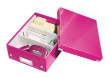 Archivační organizační box Leitz Click-N-Store S (A5), růžový