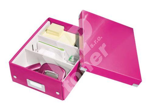 Archivační organizační box Leitz Click-N-Store S (A5), růžový 1