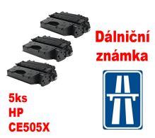 5ks kompatibilní toner HP CE505X MP print + dálniční známka