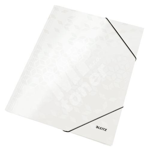 Tříchlopňové desky Leitz WOW A4, perleťové bílé 1