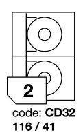 Samolepící etikety Rayfilm Office průměr 116/41 mm 300 archů R0103.CD32D