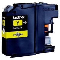 Inkoustová cartridge Brother LC-123Y, MFC-J4510DW, yellow, originál