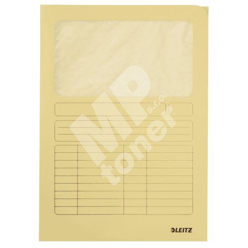 Odkládací desky Leitz s okénkem, žluté 1