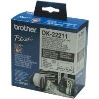 Role filmová Brother 29mm x 15.24m, bílá, 1 ks, DK22211, pro tiskárny štítků 2