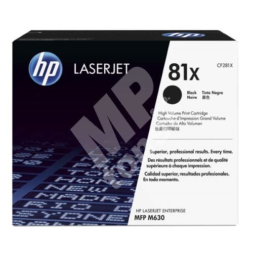 Toner HP CF281X, black, 81X, originál 1