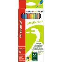 Barevné pastelky STABILO GreenColours, 12ks, šestihranné