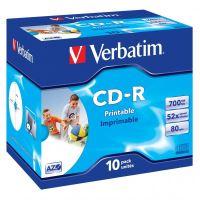 Verbatim CD-R, DataLife PLUS, 700 MB, Wide Printable, jewel box, 43325, 52x, 10-pack