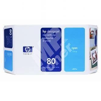 Inkoustová cartridge HP C4872A modrá, No. 80, originál