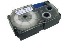 Páska do tiskárny štítků Casio XR-12RD1 12mm černý tisk/červený podklad