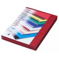 Kartónové desky pro zadní strany Delta A4, 230 g, tmavě červená, 100 ks