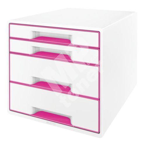 Zásuvkový box Leitz WOW, 4 zásuvky, růžový 1