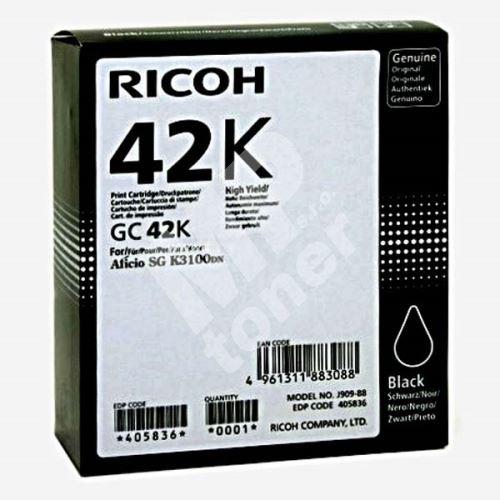 Gelová náplň Ricoh 405836, black, originál 1