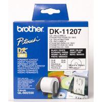Etikety na CD Brother DK11207, 58mm, bílá, filmová role, 100 ks, pro tiskárny řady QL