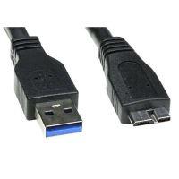 USB kabel (3.0), A-micro(B), M/M, 0.5m, No Name, blistr 1