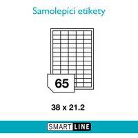 Samolepící bílé etikety Smart Line A4 38,1 x 21,2 mm 100 archů