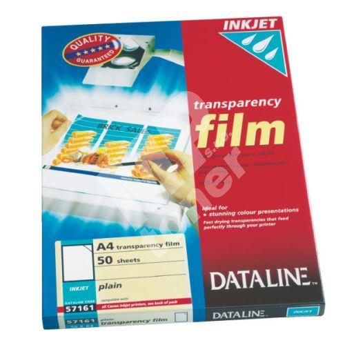 Transparentní fólie A4 pro inkoustové tiskárny 57161 DATALINE 1bal/50ks