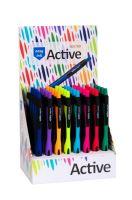 Kuličkové pero Spoko Active Easy Ink 0,5mm, mix barev 4