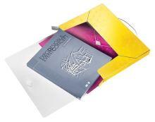 Desky s gumičkou Wow Jumbo, žlutá, 30 mm, PP, A4, LEITZ 3