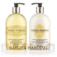 Baylis & Harding Tekuté mýdlo + Mléko na ruce - Mandarinka a Grapefruit, 2x500ml