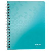 Blok na psaní Leitz WOW A5, linkovaný, drátěná vazba s PP deskami, ledově modrý