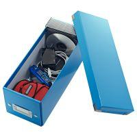 Archivační krabice na CD Leitz Click-N-Store WOW, modrá 2