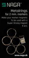 Kroužek Naga pro uchycení popisovače (2 mm), kovový - 6 ks
