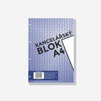 Kancelářský blok Bobo A4, 50 listů, 4 díry, čistý