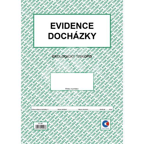 Evidence docházky A4 ET-407 /10 listů 1